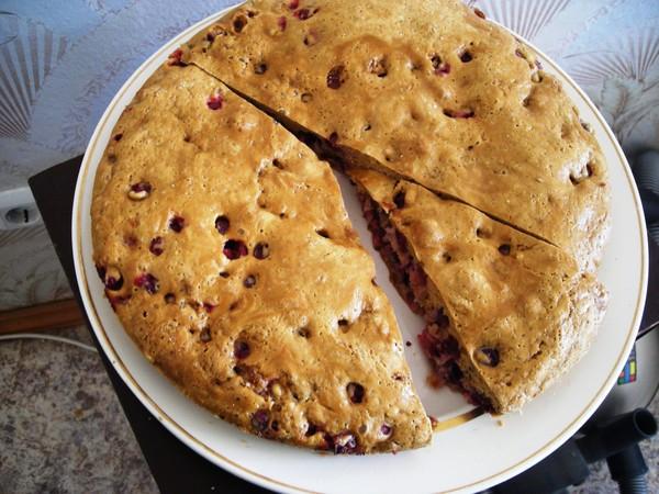 Шарлотка с яблоками и клюквой рецепт с фото пошагово в духовке