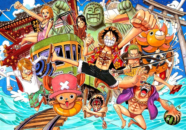 One piece nami and luffy wallpaper