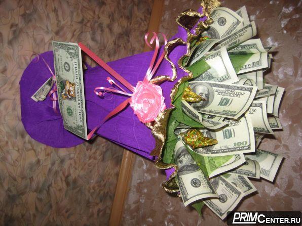 Букет из денежных купюр своими руками пошагово 91