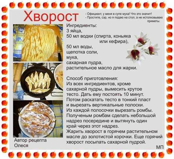 Хворост рецепт с формой