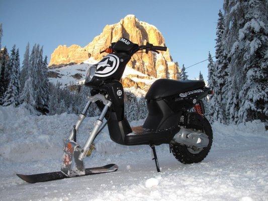 Как сделать скутер на снегоход