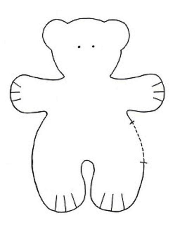 Как сшить мягкую игрушку Медведь Выкройка Медведя - Игрушки и. Медведь тиль