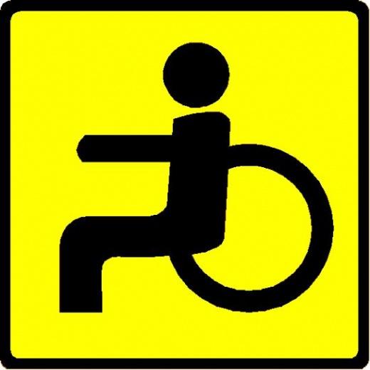 виллы, инвалидный знак на авто рабочего места