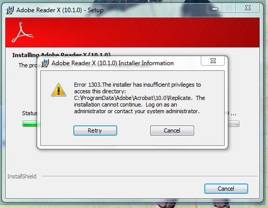 Adobe reader почему не устанавливается 145