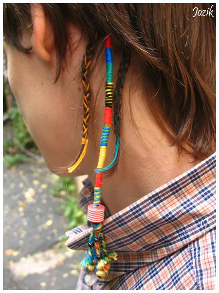 Как сделать косу на нитке