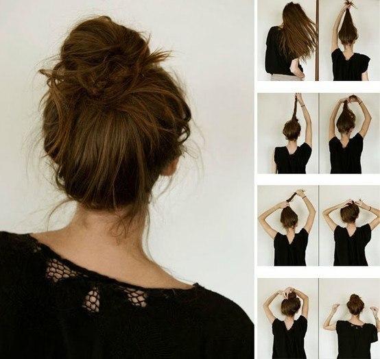 Красивые пучки своими руками на длинные волосы