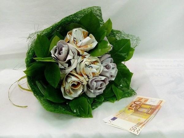 Корзина цветов из денег своими руками фото 20