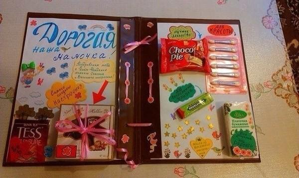 Как сделать книгу из сладостей