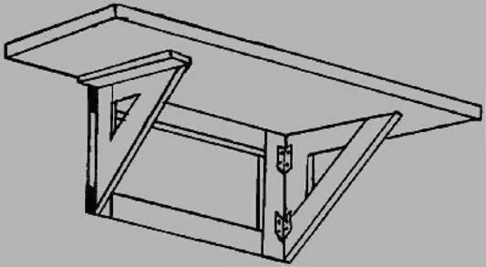 Крепление откидного стола к стене своими руками