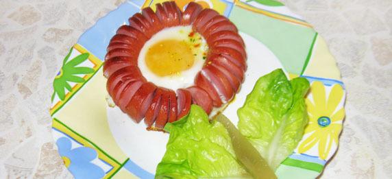 Сардельки с яйцом рецепт