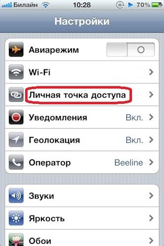 Как на айфоне 6 сделать точку доступа 164