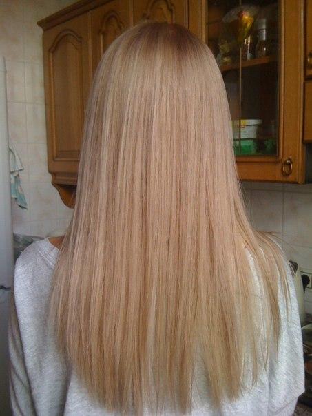 Бежевый блондин теплый цвет волос