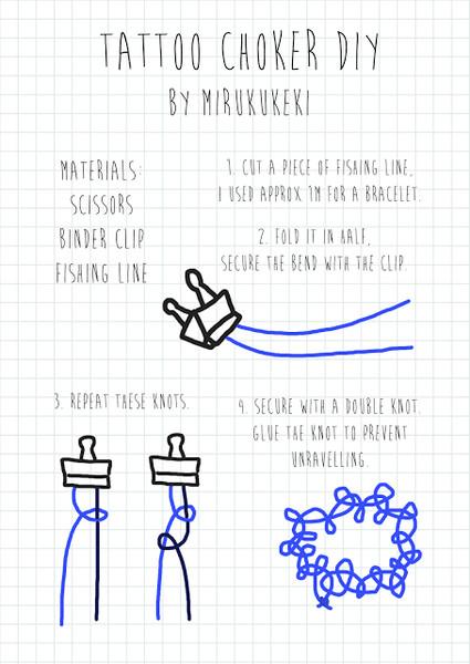 Схема плетения тату чокера