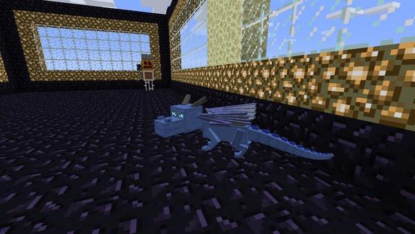 Как сделать призрачного дракона в minecraft