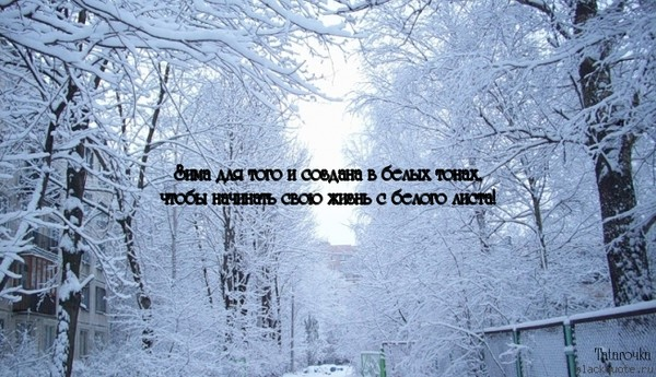 Зима афоризм про зиму