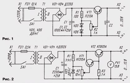 Регулируемый блок питания на транзисторах своими руками