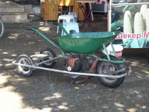 Самодельная телега с мотором