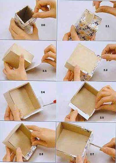 Как сделать из бумаги шкатулку