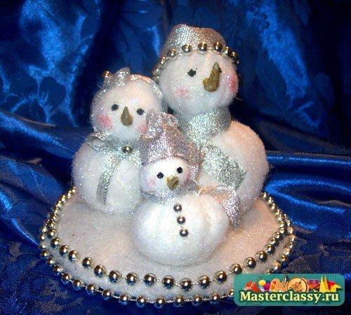 Игрушки к новому году своими руками снеговик
