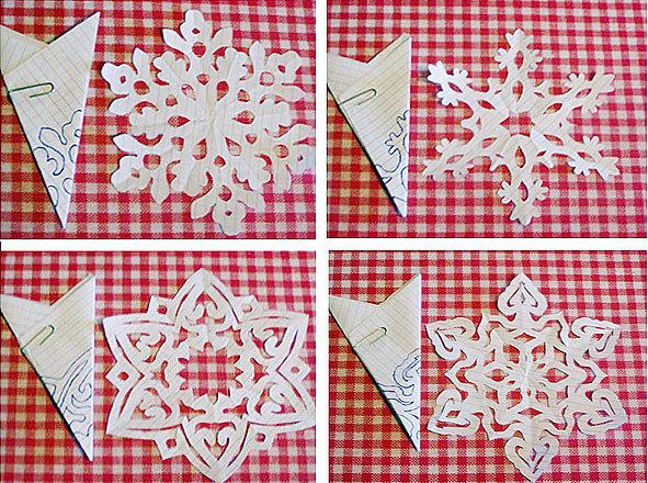 Как сделать красивые снежинки из бумаги  видео уроки
