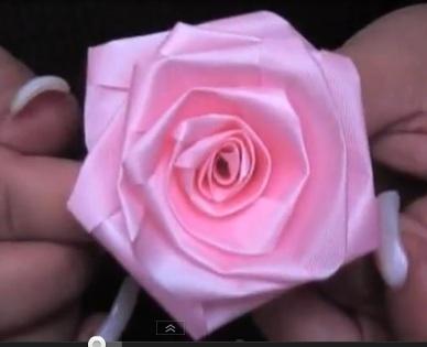 Розы из ткани и лент видео