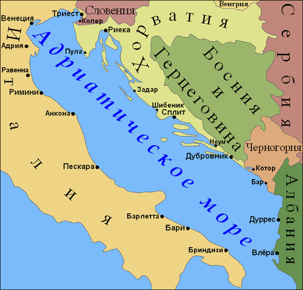 Где находиться страна черногория