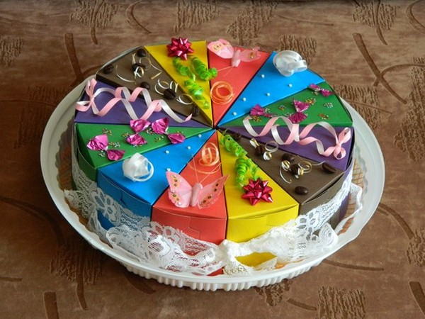 Как сделать торт из кусочков