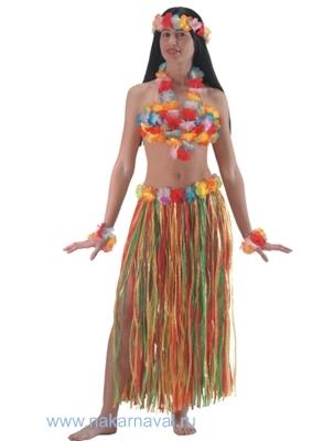 Гавайская юбка из ткани