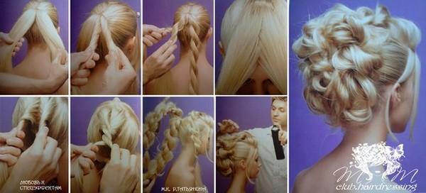 Свадебный прически на длинные волосы с пошаговым