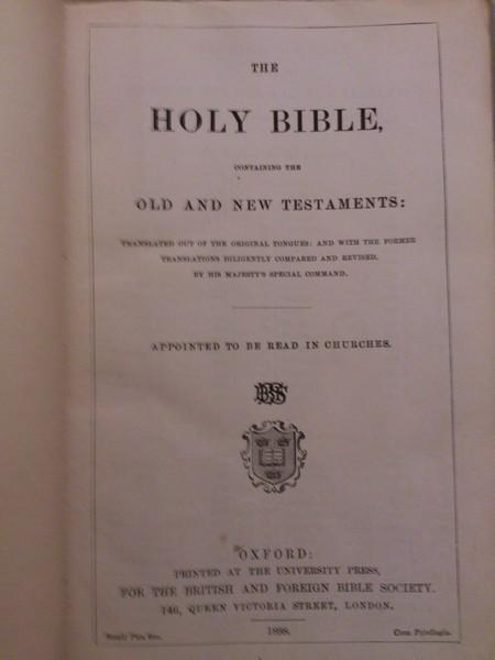 Новый завет 1898 года издания