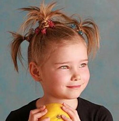 Как сделать прическу девочке короткие волосы для фото