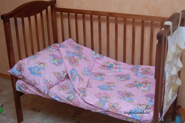 Постельное бельё в детскую кроватку своими руками