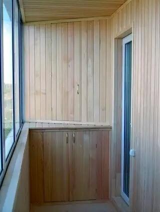 Угловой шкаф на балконе своими руками