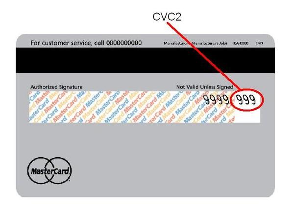 Где находится cvc2 на карте maestro