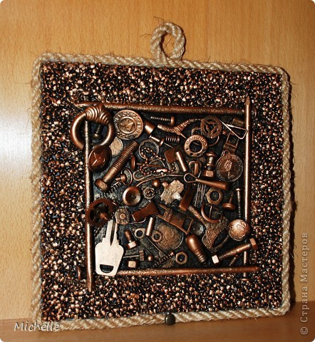 Панно из металлических предметов своими руками