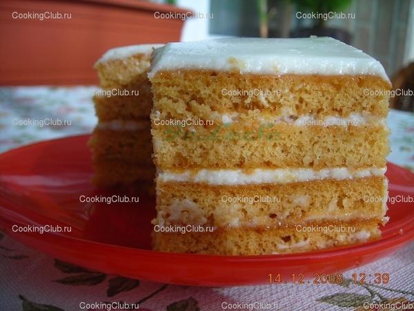 Торт медовый с толстыми коржами рецепт