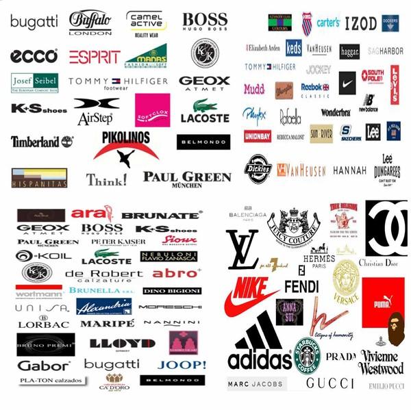 Разные фирмы для одежд