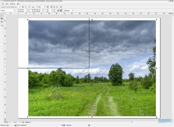 Как сделать фото из двух частей