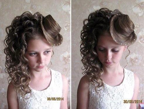 Прически на свадьбу девочкам 9 лет