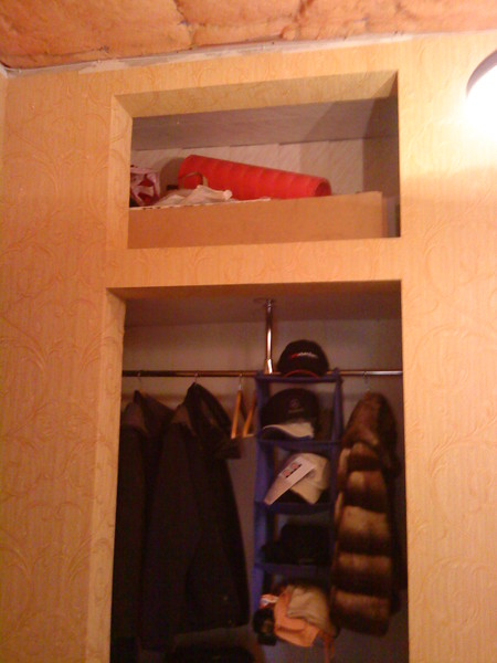 Как самим из ниши сделать шкаф 17