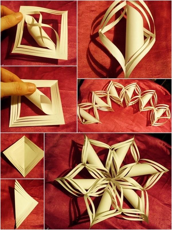 Сделать объемную снежинку из бумаги своими руками с детьми