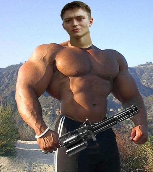 Muscle men on steroids