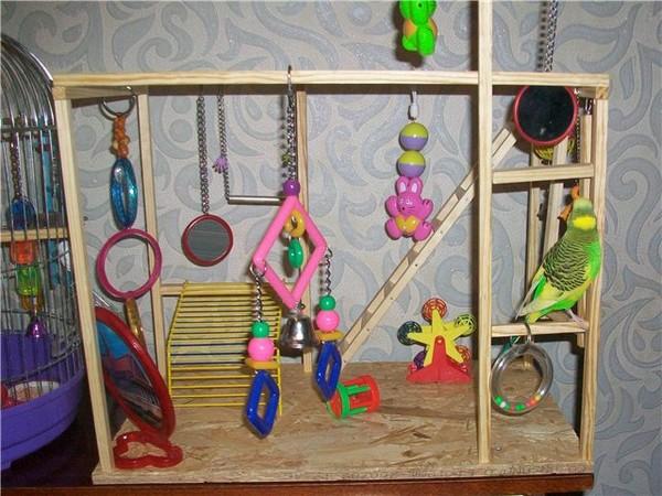 Как сделать игрушки для волнистого попугая своими руками фото 100