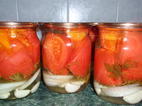 Резанные помидоры на зиму без стерилизации салат
