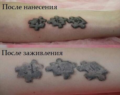 Через какое время можно делать коррекцию татуировки