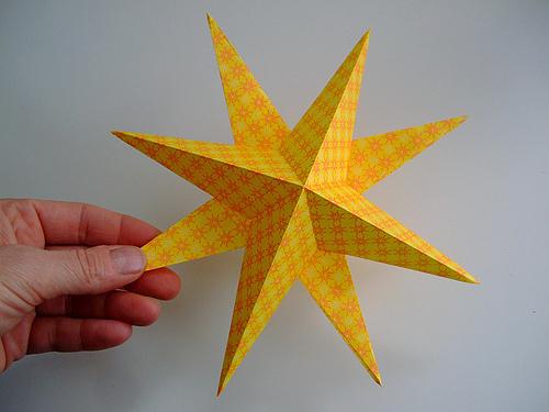 Ёлочные игрушки звёзды своими руками
