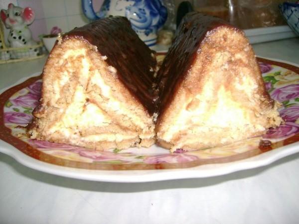 Рецепт шалаша из печенья и творога фото