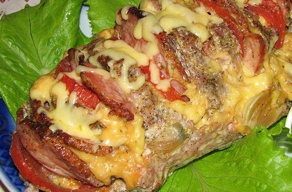 Свиная шейка фаршированная запеченная в духовке рецепт