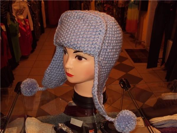 Шапочка ушанка вязание
