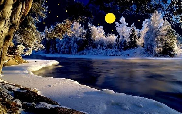речка мороз зима the river frost winter  № 456298 бесплатно